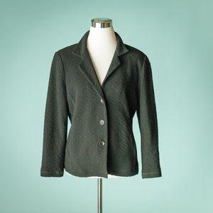 Eileen Fisher M Black Textured System Blazer